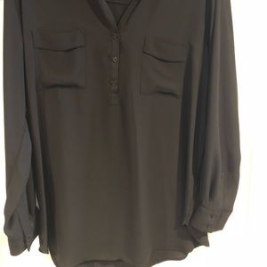 Long sleeve black blouse